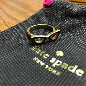 Kate Spade Goreski Glasses Ring Size7